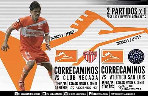 Correcaminos vs Necaxa