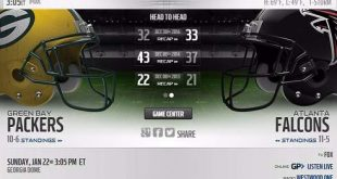 Green Bay Packers vs Atlanta Falcons