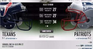 Resultado: Houston Texans vs New England Patriots [Vídeo – Resumen] Ronda Divisional NFL 2017