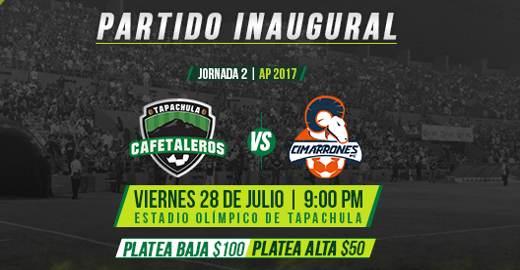 Cafetaleros de Tapachula vs Cimarrones EN VIVO Hora, Canal, Dónde ver Jornada 2 Ascenso MX Apertura 2017