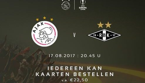 Resultado: Ajax vs Rosenborg [Vídeo Gol – Resumen] PlayOff Europa League 2017-2018